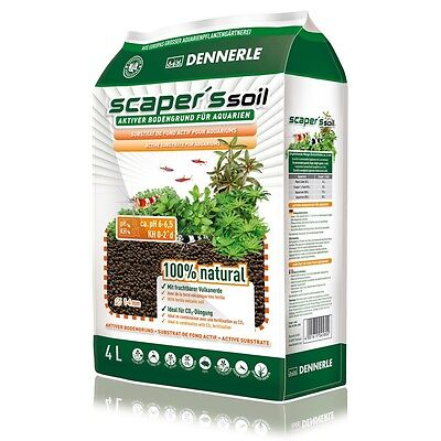 Dennerle Scaper's Soil 4 Liter DE-SS4 Active Substrate for Aquariums