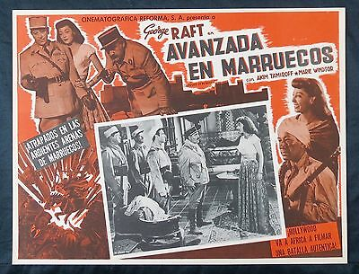OUTPOST IN MOROCCO 1949 George Raft Akim Tamiroff N MINT LOBBY CARD