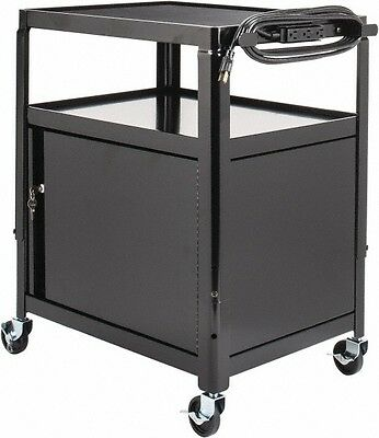 "Edsal Adjustable Mobile Audio Visual Cart with Electric Assembly 24"" x 42"" x 18"""