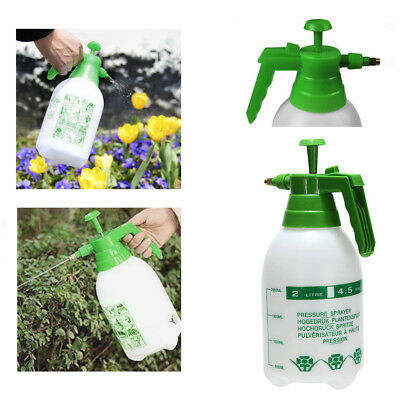 2 Liter Pressure Spray Bottle Portable Adjustable Chemical Sprayer Handheld New
