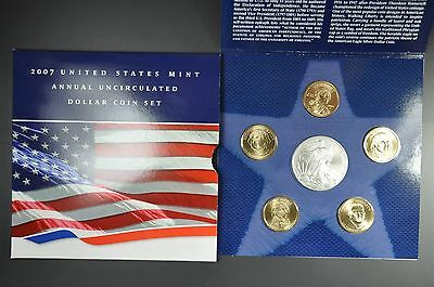2007 Annual Uncirculated Dollar Set With American Silver Eagle