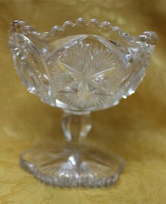 EAPG Beautiful Millersburg Glass Ohio Star Pattern Compote