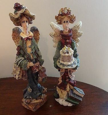 Boyds Bears & Friends Beatrice The Birthday Angel & Lizzie The Shopping Angel