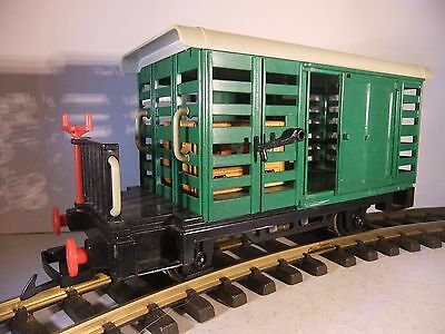 G Scale Playmobil Green Sliding Door Freight Parcels Wagon - unboxed