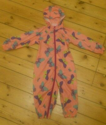 Mountain Warehouse Girls Pink Butterfly Puddle Suit - Size 18-24m Waterproof