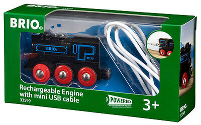 New! 33599 BRIO Railway Rechargeable Engine with Mini USB cable Age 3 Years+