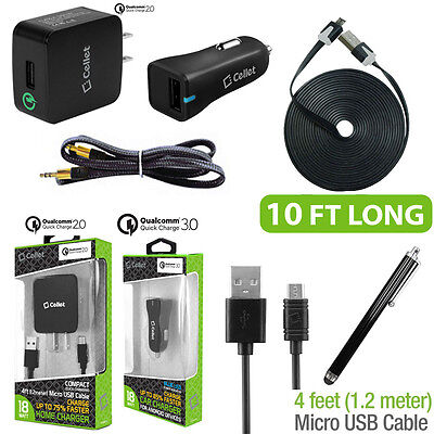 PageComm 6 pc Qualcomm Quick Charge USB Micro Kit for Jitterbug Smart.