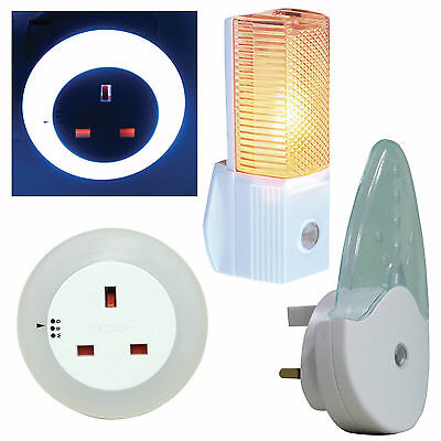 LED Night Lights Automatic with Sensor - Low Energy - LED with 13A Socket 240v