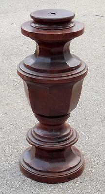 """Vtg 17.75"""" Wood Column Post Lamp Base Accent Pieces Furniture Repurpose Upcycle"""