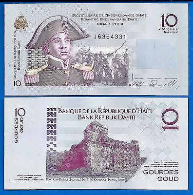 Haiti P-272d 10 Gourdes Year 2010 Uncirculated Banknote South America