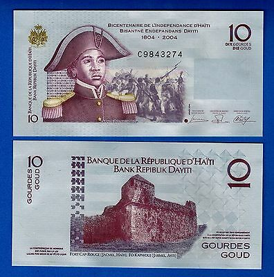 Haiti P-272a 10 Gourdes Year 2006 Uncirculated FREE SHIPPING