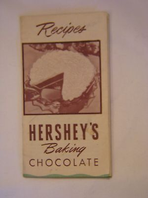 VINTAGE LITTLE hershey's baking chocolate recipes fold out booklet