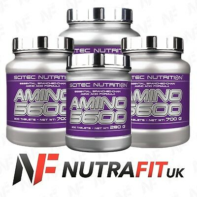 SCITEC NUTRITION AMINO 5600 BCAA branched-chain amino acids tablets