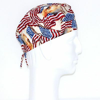 Independence Day American Flag Theme Scrub Hat