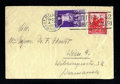 13876-ITALY-OLD COVER ROMA to VIENNA (germany)1938.WWII.Busta ITALIA.Brief