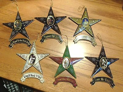 Elvis Presley Ornaments / Magnets 6 Different  New