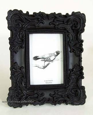 Matte Black Photo Frame Ornate Baroque Rococo Goth Sixtrees For 4x6 Picture New
