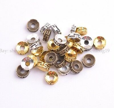 Wholesale 50/100Pcs Tibetan Silver Charms Spacer Beads Jewelry Findings  SH3116