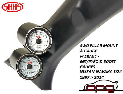Saas Pillar Pod / Gauge Package Suits Nissan Navara D22 1997   2014 Boost +  Egt
