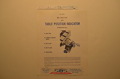 #J149 SERVO PRODUCTS CO. 1967 Bulletin - Mill Milling Machine Power  Table Feed