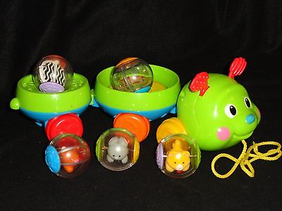 Fisher-Price Roll-A-Round  Pull Along Caterpillar & 5 Roll-A-Rounds