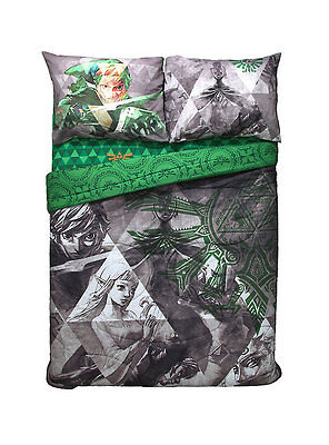 "THE LEGEND OF ZELDA SKYWARD SWORD 2 SIDED DESIGN FULL/QUEEN COMFORTER 81x86"" NEW"