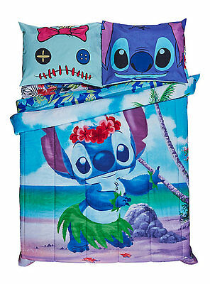 "DISNEY LILO AND STITCH HAWAIIAN LUAU REVERSIBLE FULL/QUEEN COMFORTER 81x 86"" NEW"