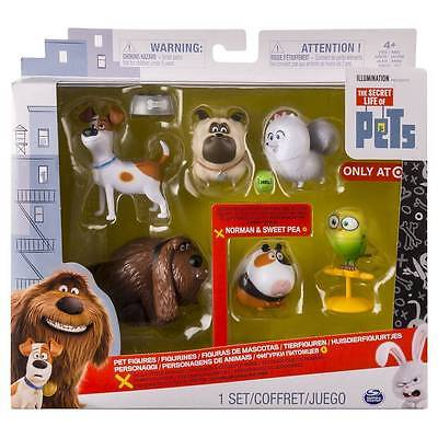 100% Authentic The Secret Life of Pets Pets Collectible Figures 6 Pack Toys