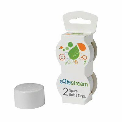 Sodastream Bottle Caps White 2-Pack New