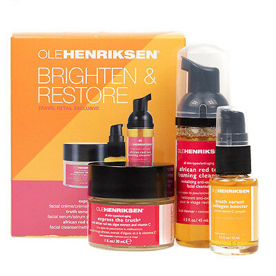 Ole Henriksen Gift Set Express The Truth Cream - Serum - Foaming Cleanser - New