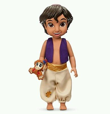 Disney Aladdin Animator collection Doll figure With Abu Soft Toy new boxed
