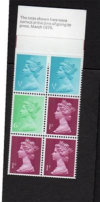 10p MARCH 1976 BOOKLET THIN COVER PERF E2a
