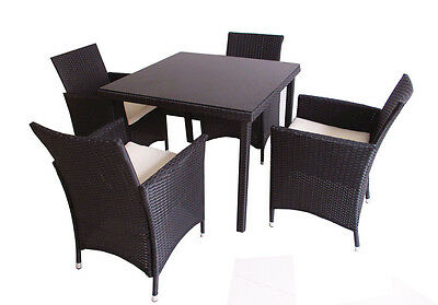 poly rattan gartenm bel gartengarnitur balkonm bel set gm4pra braun eur 100 00 picclick de. Black Bedroom Furniture Sets. Home Design Ideas