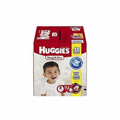 Huggies Snug & Dry Diapers, Size 6, 112 Count Quick New