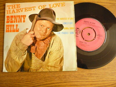 """""""Benny Hill""""...'The Harvest Of Love'..EP...Mono...7""""...UK...1961.."""