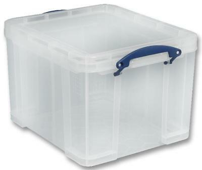 Multi-Use Clear Storage Box with Lid, 35 Litre - 310 x 390 x 480mm