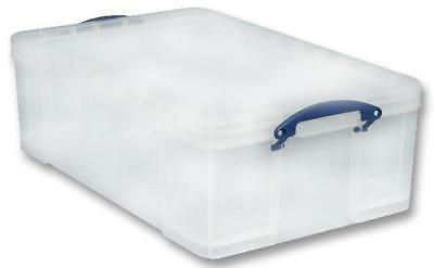 Multi-Use Clear Storage Box with Lid, 50 Litre - 230 x 440 x 710mm