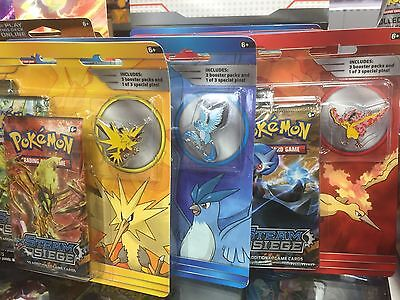 Pokemon Blastoise, Venusaur, Articuno, Zapdos & Moltres 3 Packs + Pin Badge