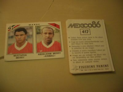 Images stickers Panini Football world cup coupe du monde Mexico 86