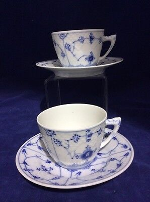 Bing & Grondahl Blue Traditional Cup And SAUCERS 475 Pair (2)