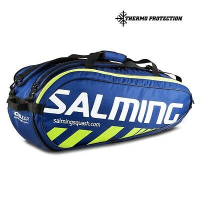 Salming Tour 9r Racket Bag One Size Navy / Safety Yellow Tennistaschen