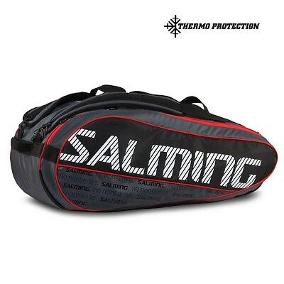 Salming Protour 12r Racket Bag One Size Black / Red Tennistaschen