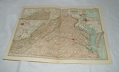 Vintage Virginia Map THE CENTURY DICTIONARY AND CYCLOPEDIA 1906 19113