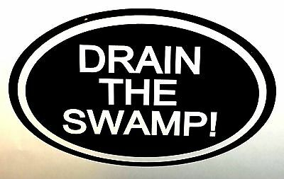 TRUMP DRAIN THE SWAMP 2020 DECAL WINDOW BUMPER STICKER POLITICAL