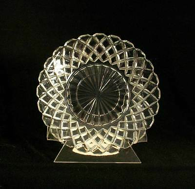 Anchor Hocking USA Waterford Clear AKA Waffle Crystal Saucer bfe0781