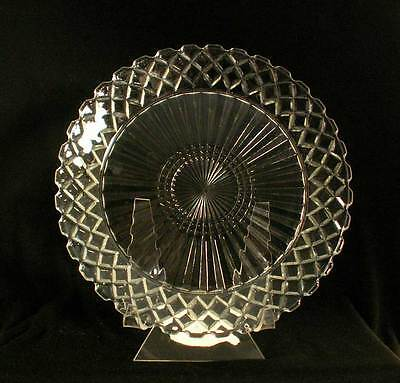 Anchor Hocking USA Waterford Clear AKA Waffle Crystal Dinner Plate bfe0779