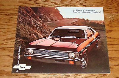 1971 Chevrolet Nova Sales Brochure 71 Chevy Coupe Sedan SS