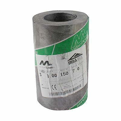 "150mm 6"" inch Code 3 Lead Flashing Roll Roof Roofing Repair Midland Lead"