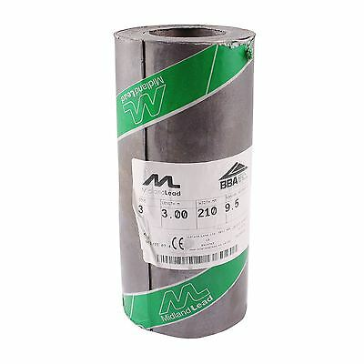 "210mm 8"" inch Code 3 Lead Flashing Roll Roof Roofing Repair Midland Lead"