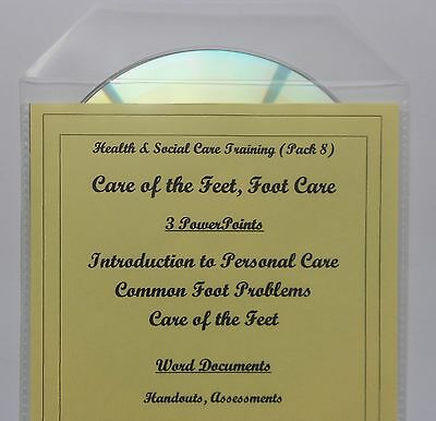 FOOT CARE Health and Social Care Teaching Training Course Resources Materials CD